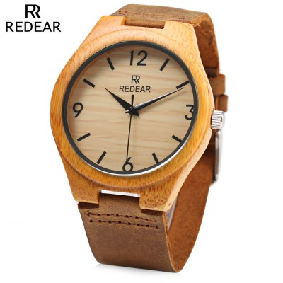 REDEAR SJ 1448 - 8 Wooden Male Quartz Watch