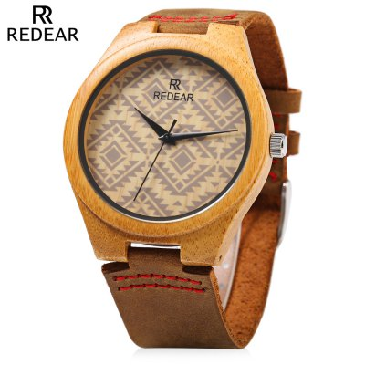 REDEAR SJ 1448 - 6 Wooden Male Quartz Watch