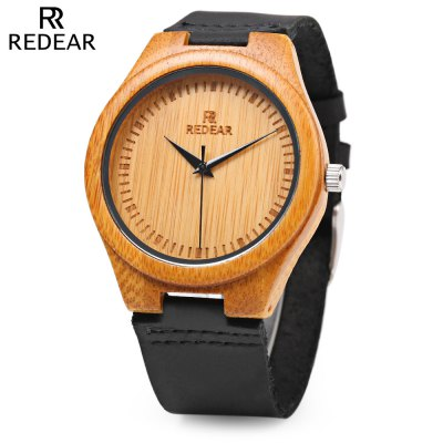 REDEAR SJ 1448 - 1 Wooden Quartz Men Watch