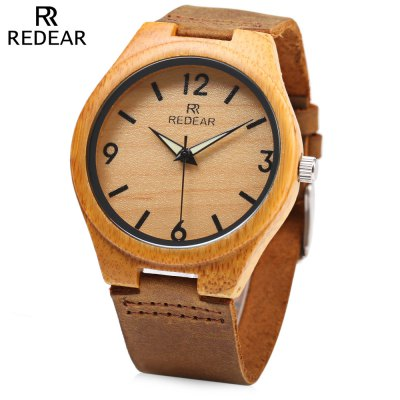 REDEAR SJ 1448 - 8 Wooden Female Quartz Watch