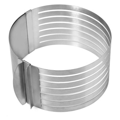 Retractable Stainless Steel Circle Cake Slicer Mold