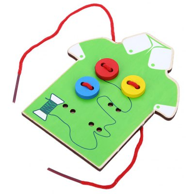 Children Beads Lacing Board Wooden Toys