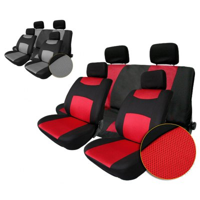 T22507RD 10pcs Car Seat Cover Set