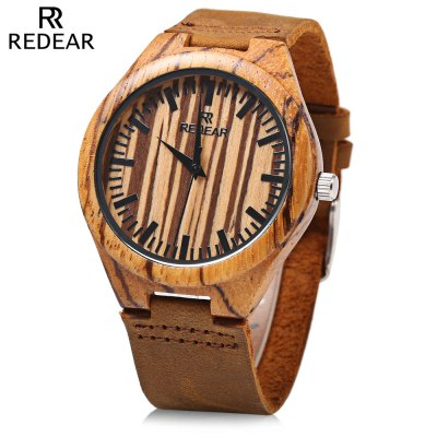 REDEAR SJ 1448 - 4 Wooden Quartz Men Watch