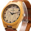 best REDEAR SJ 1448 - 5 Wooden Male Quartz Watch