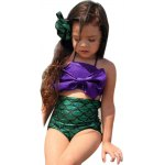 2pcs Stylish Big Bowknot Strap Mermaid Tail Girls Swimming Swimsuit Bikini Set