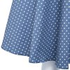 Retro Style Sweetheart Neck Sleeve Polka Dot Print A-Line Women Pin Up Dress photo
