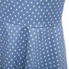 best Retro Style Sweetheart Neck Sleeve Polka Dot Print A-Line Women Pin Up Dress