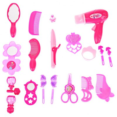 Cute Pink Make Up Hairdressing Sets Simulation Pretend Play Toy