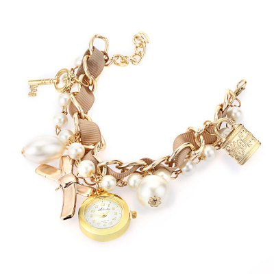 Women Artificial Pearl Bracelet Quartz WatchWomens Watches<br>Women Artificial Pearl Bracelet Quartz Watch<br><br>Band Material Type: Alloy<br>Case Shape: Round<br>Clasp type: Hook buckle<br>Dial Diameter: 2.2<br>Dial Diameter Unit: cm<br>Dial Display: Analog<br>Dial Material Type: Alloy<br>Dial Window Material Type: Glass<br>Feature: None<br>Gender: Women<br>Movement: Quartz<br>Style: Simple<br>Product weight: 0.034 kg<br>Package weight: 0.055 kg<br>Package Size(L x W x H): 7.90 x 1.00 x 12.70 cm / 3.11 x 0.39 x 5 inches<br>Package Contents: 1 x Women Bracelet Quartz Watch
