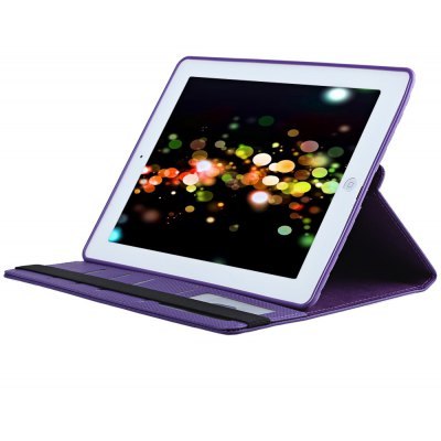 360 Degrees Rotating Stand Case Smart Cover for iPad 2 / 3 / 4