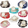 Women Artificial Diamond Wrap Bracelet Quartz Watch photo