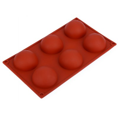 6 Domed Silicone Cake Mold