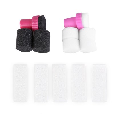 15pcs Manicure Sponge Seal Gradient Nail Stamp Tool