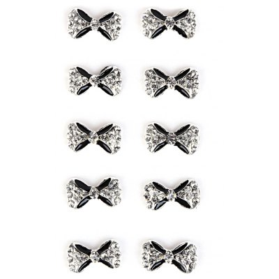 10pcs DIY Bow Rhinestone Decoration Nail Sticker