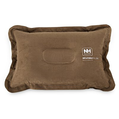 Naturehike Outdoor Inflatable Foldable Suede Fabric Hiking Traveling Pillow