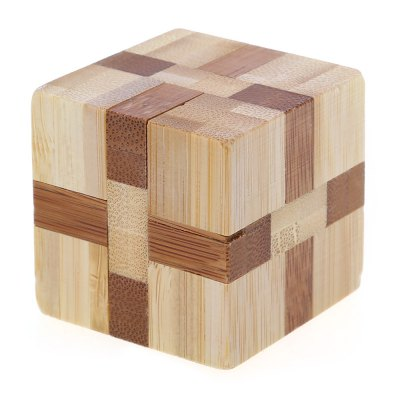 3D Interlocking Wooden Cube Burr Puzzle IQ Brain Teaser Intelligent Toy
