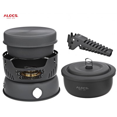 ALOCS CW - C05 10pcs 2 - 4 Person Cookware Set Camping Pot
