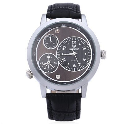 SKONE 9417EG Men Business Quartz Wrist WatchMens Watches<br>SKONE 9417EG Men Business Quartz Wrist Watch<br><br>Band Length: 9.6<br>Band Length Unit: inch<br>Band Material Type: Leather<br>Band Width: 0.8<br>Case material: Alloy<br>Case Shape: Round<br>Dial Diameter: 1.7<br>Dial Diameter Unit: inch<br>Dial Display: Analog<br>Dial Window Material Type: Glass<br>Feature: None<br>Gender: Men<br>Movement: Quartz<br>Style: Business,Fashion &amp; Casual<br>Water Resistance Depth: 30m<br>Product weight: 0.051 kg<br>Package weight: 0.098 kg<br>Product Size(L x W x H): 24.50 x 4.50 x 0.80 cm / 9.65 x 1.77 x 0.31 inches<br>Package Size(L x W x H): 26.00 x 7.00 x 2.00 cm / 10.24 x 2.76 x 0.79 inches<br>Package Contents: 1 x Men Wrist Watch