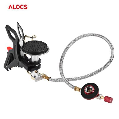 ALOCS CS - G22 Stainless Steel Aluminium Alloy Gas Stove for Camping Hiking Kits