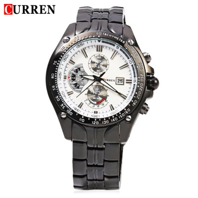 CURREN 8083 Male Quartz WatchMens Watches<br>CURREN 8083 Male Quartz Watch<br><br>Band Length: 8.27<br>Band Length Unit: inch<br>Band Material Type: Stainless Steel<br>Band Width: 20mm<br>Case material: Alloy<br>Case Shape: Round<br>Case Thickness: 10mm<br>Clasp type: Folding Clasp with Safety<br>Dial Diameter: 1.65<br>Dial Diameter Unit: inch<br>Dial Display: Analog<br>Dial Window Material Type: Glass<br>Feature: Date,Luminous<br>Gender: Men<br>Movement: Quartz<br>Style: Business<br>Water Resistance Depth: 30m<br>Product weight: 0.133 kg<br>Package weight: 0.162 kg<br>Product Size(L x W x H): 21.00 x 4.80 x 1.00 cm / 8.27 x 1.89 x 0.39 inches<br>Package Size(L x W x H): 11.50 x 5.80 x 2.00 cm / 4.53 x 2.28 x 0.79 inches<br>Package Contents: 1 x CURREN 8083 Male Quartz Watch