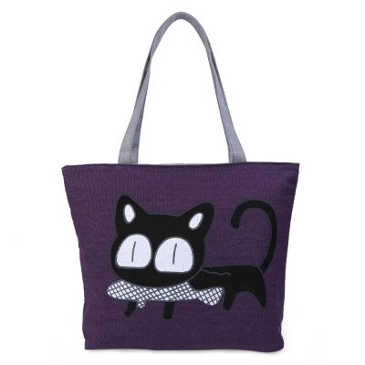 Women Cat Fish Cartoon Zipper Canvas Tote BagWomens Bags<br>Women Cat Fish Cartoon Zipper Canvas Tote Bag<br><br>Handbag Type: Totes<br>Style: Fashion<br>Gender: For Women<br>Pattern Type: Animal Prints<br>Closure Type: Zipper<br>Interior: Interior Zipper Pocket<br>Occasion: Party<br>Main Material: Canvas<br>Hardness: Soft<br>Weight: 0.252kg<br>Size(CM)(L*W*H): 31 x 10.3 x 31 cm / 12.20 x 4.06 x 12.20 inch<br>Strap Length: 26.5 cm / 10.43 inch<br>Package Contents: 1 x Tote Bag