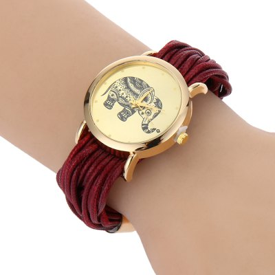 Women Elephant Rope Chain Quartz Watch