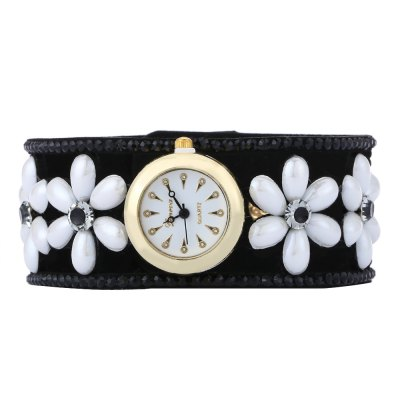 Women Quartz Bracelet Watch Artificial Pearl Flower Strap WristwatchWomens Watches<br>Women Quartz Bracelet Watch Artificial Pearl Flower Strap Wristwatch<br><br>Band Length: 21.7<br>Band Length Unit: cm<br>Band Material Type: Leather<br>Band Width: 3 cm<br>Case Shape: Round<br>Clasp type: Buckle<br>Dial Diameter: 2.3<br>Dial Diameter Unit: cm<br>Dial Display: Analog<br>Dial Material Type: Alloy<br>Dial Window Material Type: Glass<br>Feature: None<br>Gender: Women<br>Movement: Quartz<br>Style: Simple<br>Product weight: 0.023 kg<br>Package weight: 0.044 kg<br>Product Size(L x W x H): 21.70 x 3.00 x 1.10 cm / 8.54 x 1.18 x 0.43 inches<br>Package Size(L x W x H): 22.70 x 4.00 x 2.10 cm / 8.94 x 1.57 x 0.83 inches<br>Package Contents: 1 x Women Bracelet Watch