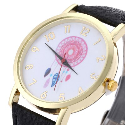 Women Aeolian Bells Pattern Quartz WatchWomens Watches<br>Women Aeolian Bells Pattern Quartz Watch<br><br>Band Length: 19.7<br>Band Length Unit: cm<br>Band Material Type: Leather<br>Band Width: 20 mm<br>Case Shape: Round<br>Clasp type: Pin buckle<br>Dial Diameter: 3.9<br>Dial Diameter Unit: cm<br>Dial Display: Analog<br>Dial Material Type: Alloy<br>Dial Window Material Type: Glass<br>Gender: Women<br>Movement: Quartz<br>Style: Simple<br>Product weight: 0.025 kg<br>Package weight: 0.046 kg<br>Product Size(L x W x H): 24.00 x 4.20 x 0.60 cm / 9.45 x 1.65 x 0.24 inches<br>Package Size(L x W x H): 25.00 x 5.20 x 1.60 cm / 9.84 x 2.05 x 0.63 inches<br>Package Contents: 1 x Women Aeolian Bells Pattern Watch