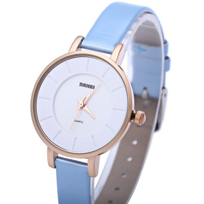 SKMEI 1178 Women Quartz WatchWomens Watches<br>SKMEI 1178 Women Quartz Watch<br><br>Band Length: 19<br>Band Length Unit: cm<br>Band Material Type: Leather<br>Band Width: 10 mm<br>Case material: Alloy<br>Case Shape: Round<br>Clasp type: Pin buckle<br>Dial Diameter: 3<br>Dial Diameter Unit: cm<br>Dial Display: Analog<br>Dial Window Material Type: Glass<br>Gender: Women<br>Movement: Quartz<br>Style: Simple<br>Water Resistance Depth: 30m<br>Product weight: 0.020 kg<br>Package weight: 0.041 kg<br>Product Size(L x W x H): 22.70 x 3.20 x 0.70 cm / 8.94 x 1.26 x 0.28 inches<br>Package Size(L x W x H): 23.70 x 4.20 x 1.70 cm / 9.33 x 1.65 x 0.67 inches<br>Package Contents: 1 x SKMEI 1178 Women Quartz Watch