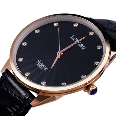 LONGBO 8953A Men Quartz WatchMens Watches<br>LONGBO 8953A Men Quartz Watch<br><br>Band Length: 20<br>Band Length Unit: cm<br>Band Material Type: Leather<br>Band Width: 2 cm<br>Case material: Alloy<br>Case Shape: Round<br>Clasp type: Pin buckle<br>Dial Diameter: 4<br>Dial Diameter Unit: cm<br>Dial Display: Analog<br>Dial Window Material Type: Glass<br>Feature: None<br>Gender: Men<br>Movement: Quartz<br>Style: Business<br>Water Resistance Depth: 30m<br>Product weight: 0.039 kg<br>Package weight: 0.060 kg<br>Product Size(L x W x H): 24.00 x 4.20 x 0.70 cm / 9.45 x 1.65 x 0.28 inches<br>Package Size(L x W x H): 25.00 x 5.20 x 1.00 cm / 9.84 x 2.05 x 0.39 inches<br>Package Contents: 1 x LONGBO 8953A Men Quartz Watch