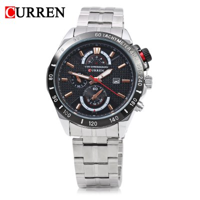 CURREN 8148 Male Quartz WatchMens Watches<br>CURREN 8148 Male Quartz Watch<br><br>Band Length: 8.66<br>Band Length Unit: inch<br>Band Material Type: Stainless Steel<br>Band Width: 20mm<br>Case material: Alloy<br>Case Shape: Round<br>Case Thickness: 10mm<br>Clasp type: Folding Clasp with Safety<br>Dial Diameter: 1.77<br>Dial Diameter Unit: inch<br>Dial Display: Analog<br>Dial Window Material Type: Glass<br>Feature: Date,Luminous<br>Gender: Men<br>Movement: Quartz<br>Style: Business,Sport<br>Water Resistance Depth: 30m<br>Product weight: 0.132 kg<br>Package weight: 0.156 kg<br>Product Size(L x W x H): 22.00 x 5.00 x 1.00 cm / 8.66 x 1.97 x 0.39 inches<br>Package Size(L x W x H): 12.00 x 6.00 x 2.00 cm / 4.72 x 2.36 x 0.79 inches<br>Package Contents: 1 x CURREN 8148 Men Quartz Watch