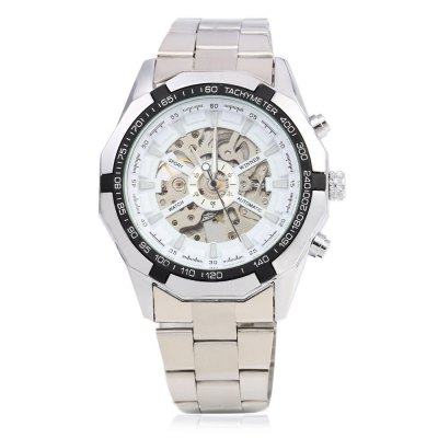 Winner F1205158 Male Automatic Mechanical Wrist Steel StrapMens Watches<br>Winner F1205158 Male Automatic Mechanical Wrist Steel Strap<br><br>Band Length: 25 cm / 9.84 inch<br>Band Length Unit: inch<br>Band Material Type: Stainless Steel<br>Band Width: 2.4 cm / 0.94 inch<br>Band With: 20mm to 29mm<br>Boxes &amp; Cases Material: Paper<br>Case material: Stainless Steel<br>Case Shape: Round<br>Case Thickness: 10mm<br>Dial Diameter: 4.5 cm / 1.77 inch<br>Dial Diameter Unit: inch<br>Dial Display: Analog<br>Dial Material Type: Stainless Steel<br>Dial Window Material Type: Hardlex<br>Gender: Men<br>Movement: Automatic Self-Wind<br>Style: Business<br>Product weight: 0.130 kg<br>Package weight: 0.151 kg<br>Product Size(L x W x H): 16.00 x 5.00 x 1.50 cm / 6.3 x 1.97 x 0.59 inches<br>Package Size(L x W x H): 11.00 x 5.50 x 2.00 cm / 4.33 x 2.17 x 0.79 inches<br>Package Contents: 1 x Winner F1205158 Male Automatic Mechanical Watch