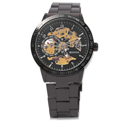 Winner F120596 Automatic Mechanical  Wrist Watch for Men Steel StrapMens Watches<br>Winner F120596 Automatic Mechanical  Wrist Watch for Men Steel Strap<br><br>Band Length: 25 cm / 9.84 inch<br>Band Length Unit: inch<br>Band Material Type: Stainless Steel<br>Band Width: 2 cm / 0.79 inch<br>Band With: 20mm to 29mm<br>Boxes &amp; Cases Material: Paper<br>Case material: Stainless Steel<br>Case Shape: Round<br>Condition: New without tags<br>Dial Diameter: 4.3 cm / 1.69 inch<br>Dial Diameter Unit: inch<br>Dial Display: Analog<br>Dial Window Material Type: Hardlex<br>Feature: None<br>Gender: Men<br>Movement: Automatic Self-Wind<br>Product weight: 0.118 kg<br>Package weight: 0.163 kg<br>Product Size(L x W x H): 13.00 x 4.30 x 1.20 cm / 5.12 x 1.69 x 0.47 inches<br>Package Size(L x W x H): 11.50 x 4.80 x 1.70 cm / 4.53 x 1.89 x 0.67 inches<br>Package Contents: 1 x Winner F120596 Male  Automatic Watch