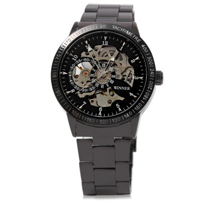 Winner F120596 Automatic Mechanical  Wrist Watch for Men Steel StrapMens Watches<br>Winner F120596 Automatic Mechanical  Wrist Watch for Men Steel Strap<br><br>Band Length: 25 cm / 9.84 inch<br>Band Length Unit: inch<br>Band Material Type: Stainless Steel<br>Band Width: 2 cm / 0.79 inch<br>Band With: 20mm to 29mm<br>Boxes &amp; Cases Material: Paper<br>Case material: Stainless Steel<br>Case Shape: Round<br>Condition: New without tags<br>Dial Diameter: 4.3 cm / 1.69 inch<br>Dial Diameter Unit: inch<br>Dial Display: Analog<br>Dial Window Material Type: Hardlex<br>Feature: None<br>Gender: Men<br>Movement: Automatic Self-Wind<br>Product weight: 0.118 kg<br>Package weight: 0.139 kg<br>Product Size(L x W x H): 13.00 x 4.30 x 1.20 cm / 5.12 x 1.69 x 0.47 inches<br>Package Size(L x W x H): 11.50 x 4.80 x 1.70 cm / 4.53 x 1.89 x 0.67 inches<br>Package Contents: 1 x Winner F120596 Male  Automatic Watch