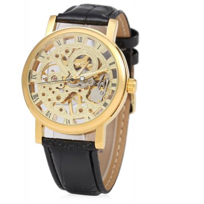 Winner F120597 Unisex Automatic Mechanical Watch Leather Strap