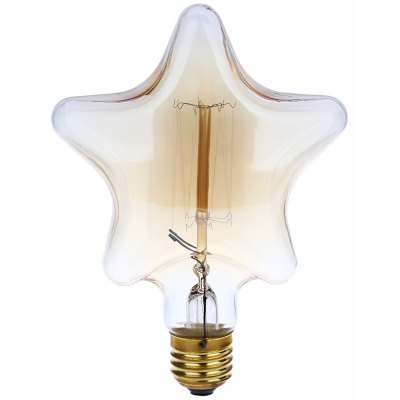 Lightme 220 - 240V 40W E27 110 - 120LM 13AK Retro Tungsten Pentagram Light Bulb