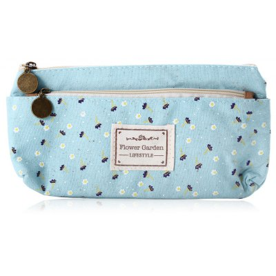 Floral Canvas Stationery Pouch