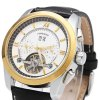 Forsining F120571 Men Tourbillon Automatic Mechanical Watch Rubber Strap Date Week Month Display photo