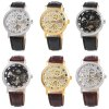 Winner F120597 Unisex Automatic Mechanical Watch Leather Strap photo