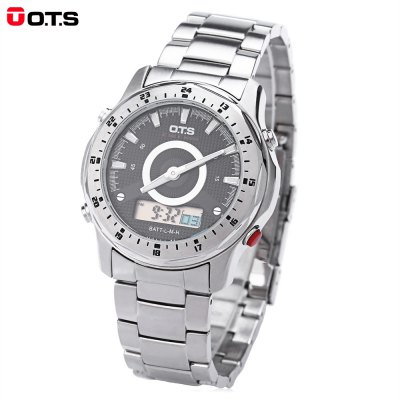 OTS 9107G Dual Movt Men Analog LED Digital Quartz Watch