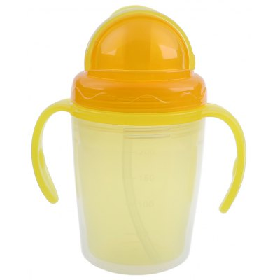 230ml PP Material Straw Cup Drinking Bottle with Handles for Babies