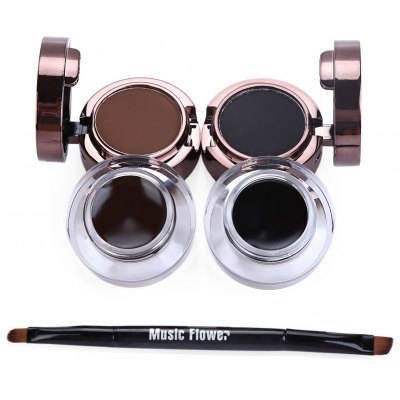 Eyebrow Powder Waterproof Eyeliner Gel Set