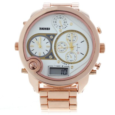 SKMEI 1170 Men Double Movement WatchMens Watches<br>SKMEI 1170 Men Double Movement Watch<br><br>Band Length: 7.86<br>Band Length Unit: inch<br>Band Material Type: Stainless Steel<br>Band Width: 25mm<br>Case material: Stainless Steel<br>Case Shape: Round<br>Dial Diameter: 2.17<br>Dial Diameter Unit: inch<br>Dial Display: Analog-Digital<br>Dial Window Material Type: Glass<br>Feature: Led Display<br>Gender: Men<br>Movement: Digital,Quartz<br>Style: Simple<br>Product weight: 0.187 kg<br>Package weight: 0.208 kg<br>Product Size(L x W x H): 20.00 x 6.00 x 1.50 cm / 7.87 x 2.36 x 0.59 inches<br>Package Size(L x W x H): 15.00 x 7.00 x 2.50 cm / 5.91 x 2.76 x 0.98 inches<br>Package Contents: 1 x SKMEI Men LED Digital Quartz Watch