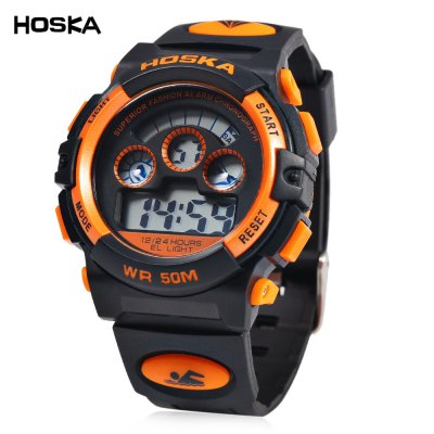 HOSKA H001B Children LED Digital Watch