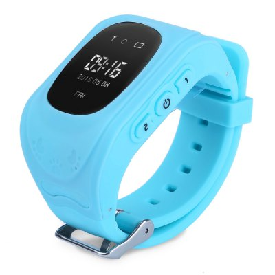 Q50 Waterproof LCD Display Kids GPS Intelligent Watch Telephone Pedometer