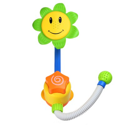 Baby Sunflower Shower Spray Bath ToyOutdoor Fun &amp; Sports<br>Baby Sunflower Shower Spray Bath Toy<br><br>Age Range: &gt; 3 years old<br>Gender: Unisex<br>Material: Plastic<br>Type: Water Spraying Tool<br>Product weight: 0.282 kg<br>Package weight: 0.446 kg<br>Product Size(L x W x H): 16.00 x 15.00 x 66.00 cm / 6.3 x 5.91 x 25.98 inches<br>Package Size(L x W x H): 14.00 x 14.00 x 42.00 cm / 5.51 x 5.51 x 16.54 inches<br>Package Contents: 1 x Shower Head