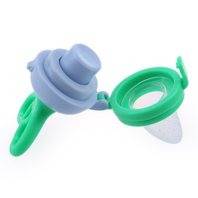Babies Fresh Food Milk Nibbler Feeding Push Type Tool with Chew PacifierFeeding<br>Babies Fresh Food Milk Nibbler Feeding Push Type Tool with Chew Pacifier<br><br>Suitable Age: More than 6 months<br>Shape/Pattern: Solid<br>Packaging: Single loaded<br>Material: Polypropylene,Silicone<br>Product weight: 0.045 kg<br>Package weight: 0.065 kg<br>Product Size(L x W x H): 10.50 x 5.00 x 3.00 cm / 4.13 x 1.97 x 1.18 inches<br>Package Size ( L x W x H ): 11.50 x 6.00 x 4.00 cm / 4.53 x 2.36 x 1.57 inches<br>Package Contents: 1 x Chew Pacifier