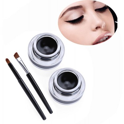Waterproof Eye Liner Gel Makeup Brush