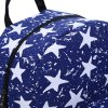 best Women Lucky Star Print Pattern Zipper Canvas Backpack